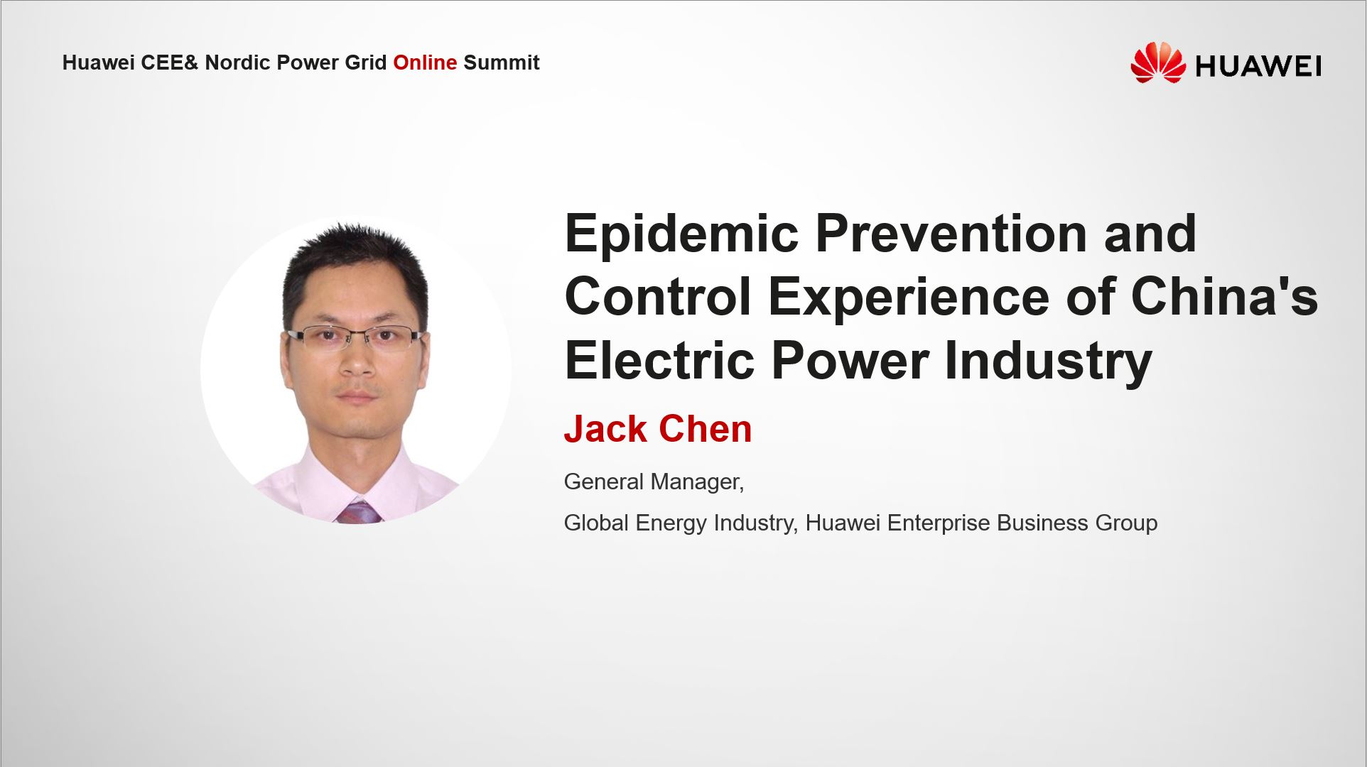 China Power Grid Coping with Epidemic-Jack Chen