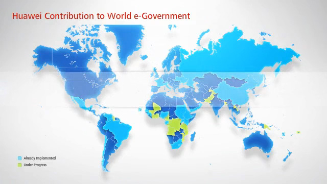 Huawei's contributions to eGovernment projects in more than 30 countries